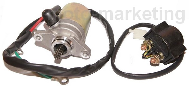 Details about STARTER MOTOR + RELAY SOLENOID for AJS FIREFOX CRAZY EXACTLY  SCOOTER 50 cc